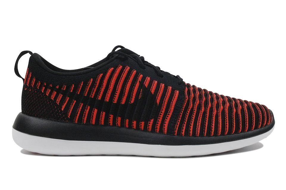Nike Roshe Flyknit  negro brillante carmesí Two