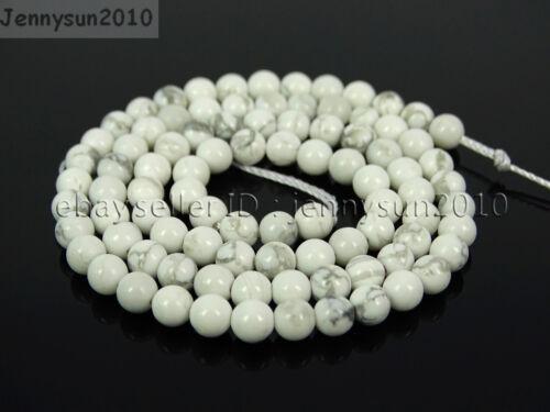 Natural White Howlite Gemstone Round Beads 15.5/'/' 2mm 3mm 4mm 6mm 8mm 10mm 12mm