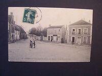 CPA  ( 77 )  - COMBS-LA-VILLE  -  Place de l'Eglise et Rue Sommeville  - 1908
