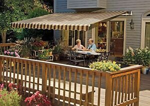 Image Is Loading SunSetter Motorized Retractable Awning 16x10 Ft Outdoor  Deck