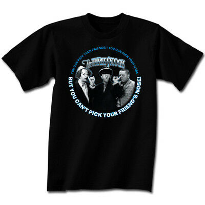 Three Stooges Motorcycle Larry Moe Curly New Short Or Long Sleeve Mens T Shirt