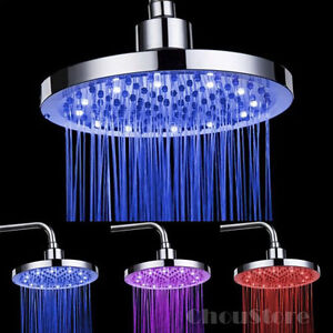 Round Led Rain Shower Head Overhead