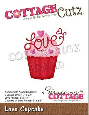 "2.4/""X2.5/"" CottageCutz Dies-Made W//Love Phrase 2 Pack"