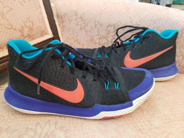 uk availability fa39c e4955 Nike Kyrie 3 Kyrache Sz 11 Light Black Team Orange Concord Irving 852395 007
