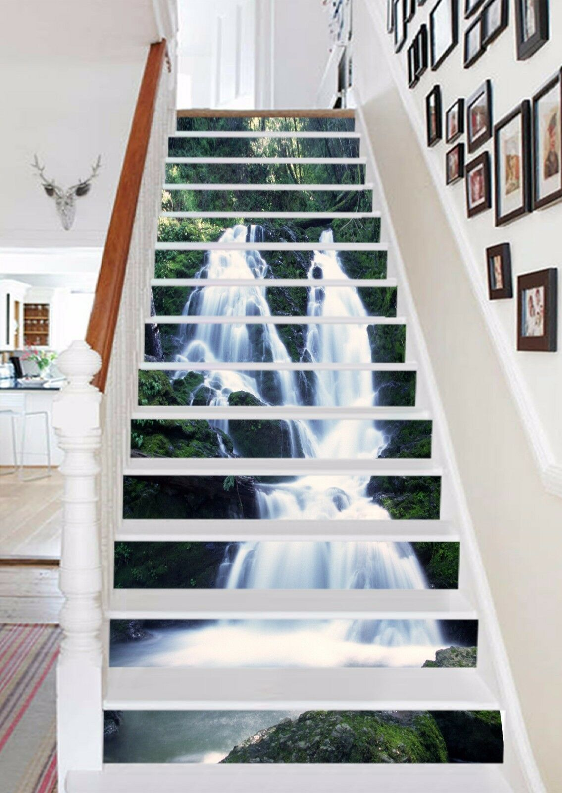 3D Valley Waterfall 382 Risers Decoration Photo Mural Vinyl Vinyl Vinyl Decal Wallpaper CA dbc33f