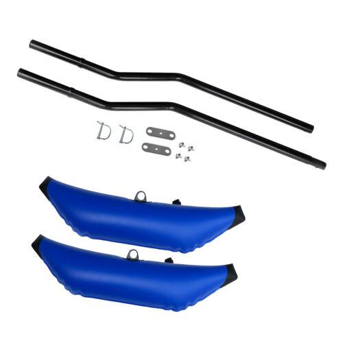 Heavy Duty 2x Deluxe Blue PVC Schwimm Aufblasbarer Ausleger Stabilisator Kajak
