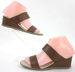 Details about *New!* ECCO Shape 35 Wedge 2 Strap Sandals Camel EU 35 US 4