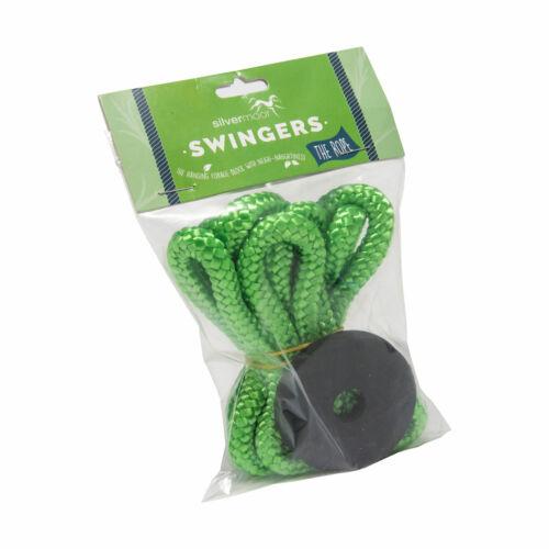 KIT silvermoor swingers Corda giocattolo stabile per appendere palline di trattare OSCILLANTE 146cm