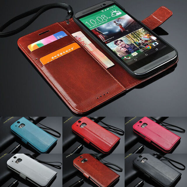 Luxury Leather Case Flip Card Slot Wallet Case Stand Cover Skin For HTC ONE M8