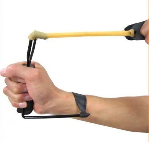 Folding Wrist Sling Shot Slingshot High Velocity Brace Hunting Catapult New