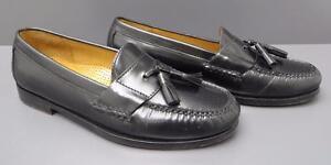7936919235d Men Cole Haan Black Leather Pinch Tassel Moccasin Loafer Business ...