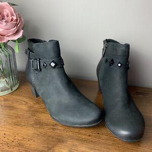 Marco Tozzi Size 5 Black Wendel Leather