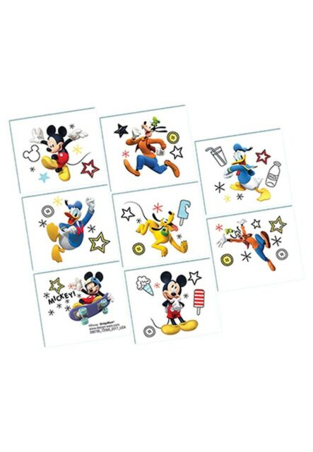 MICKEY ON THE GO TATTOOS BIRTHDAY PARTY SUPPLIES