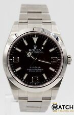 Rolex Explorer I 214270 39mm Stainless Steel Black Dial Oyster Band w/Box