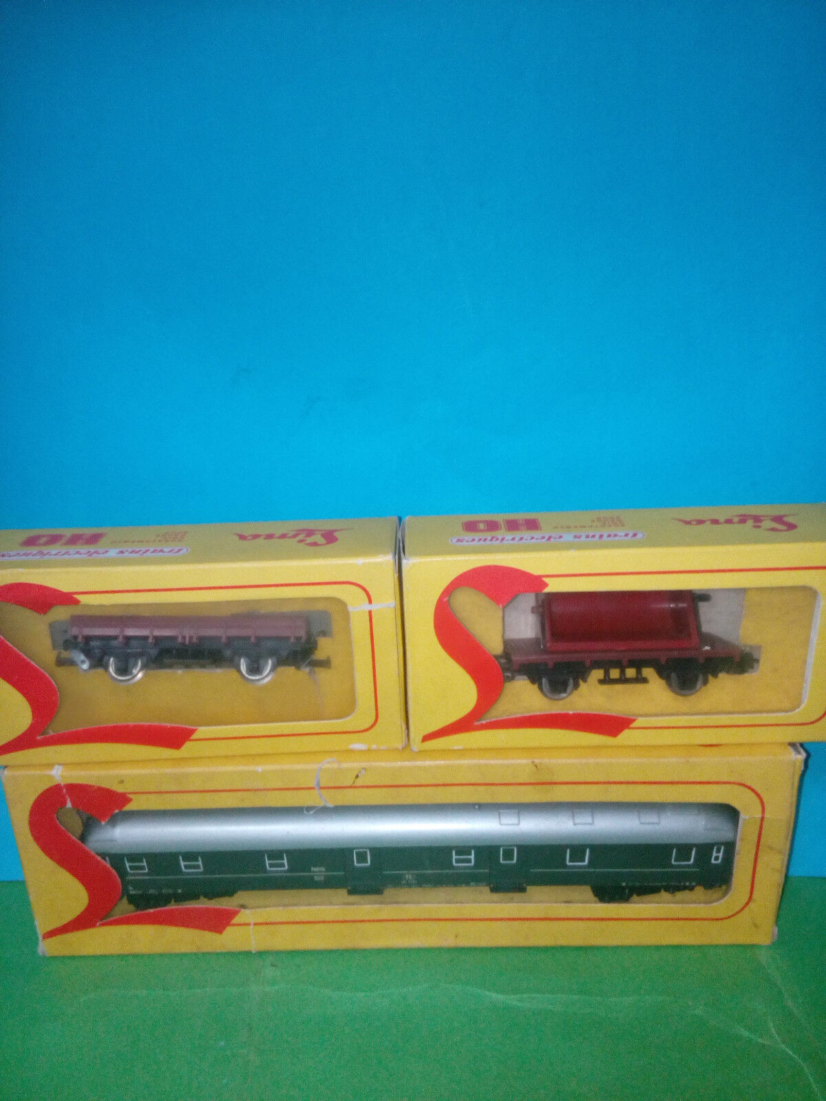 Lima carriage Postal + Freight Wagons years 60 HO