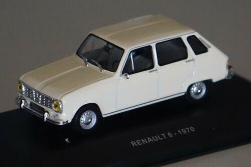 Renault 6 1970 blanco 1:43 Solido 4304700 nuevo y original caja