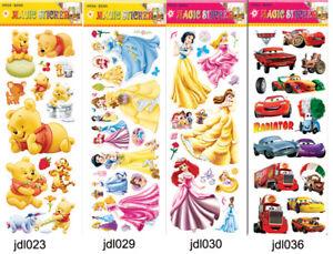 Winnie-Cars-PrincessHome-Glass-Door-Wall-Window-Decals-Stickers-Decor-Removable