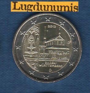 2 euro Commémo Allemagne 2013 Monastère Maulbronn D Munich Germany
