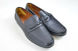 A-Testoni-Black-Leather-Moccasin-Shoes-Made-in-Italy-UK-Size-8-5