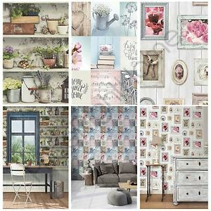 sweet home wallpaper designs. Image is loading MURIVA GENERIC HOME WALLPAPER LAZY DAYS POTTING SHED  SWEET