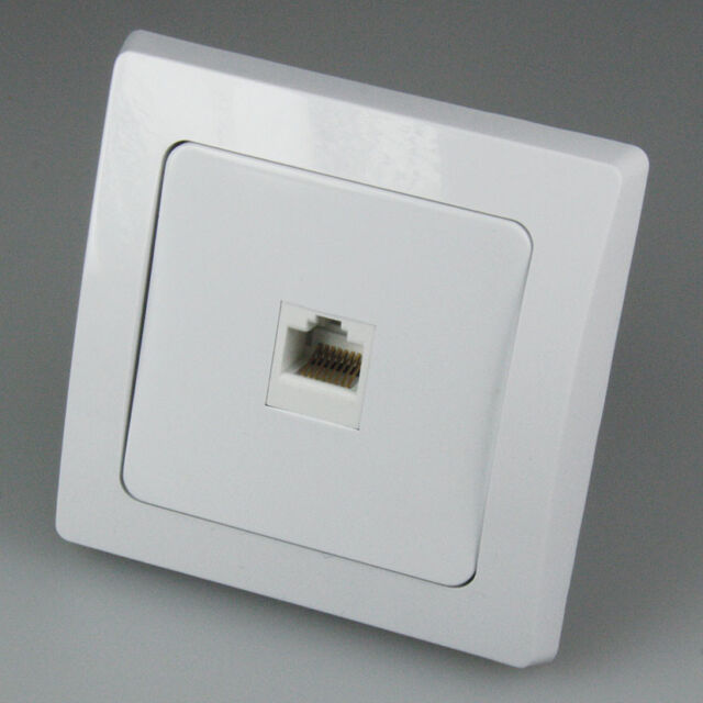 DELPHI: UP-Netzwerkdose für ISDN und CAT.5 - Unterputz