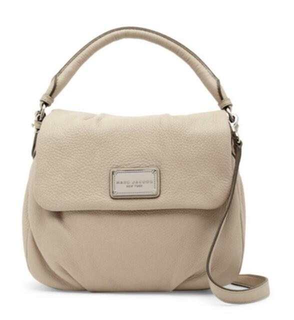8d3c471454 NWT Marc Jacobs Classic Ukita Leather Hobo Shoulder Crossbody Bag IVORY  BISQUE