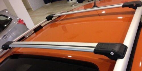VW SHARAN onwards 2010 LOCKABLE ALUMINIUM CROSS BAR RACK 75 KG LOADING GREY