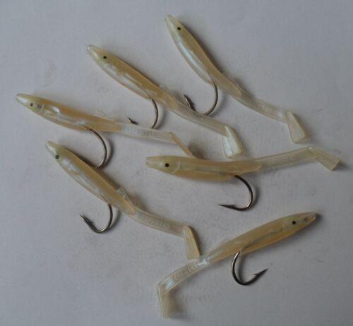 Flexible lure sandeel genus raglou light pearly beige 8,5cm quality!!!