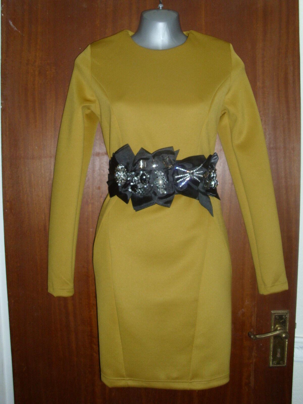 Ladies Mustard Shift Dress size 12 14