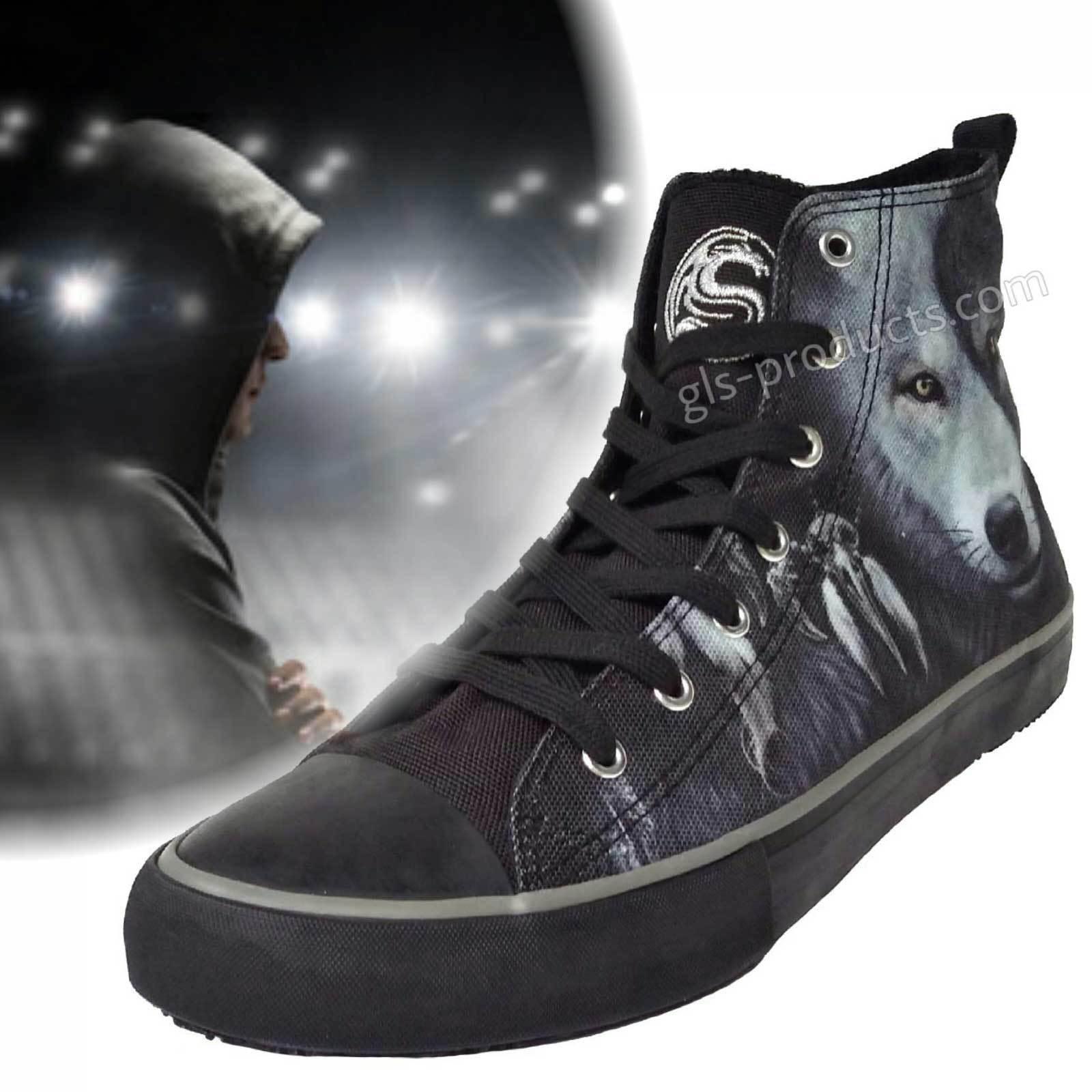 Hi Top Sneaker Wolf Chi 7-Loch Turnschuh Darkwear Schuh Canvas Basketball Skater