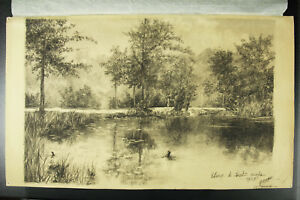 Yvonne-of-Nugent-Drawing-Original-Idem-Auguste-Extended-1905-Pond-D-Saint-Cucufa
