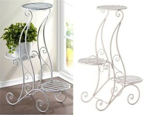 Image Is Loading 29 034 Curlicue Design 3 Tier Plant Stand