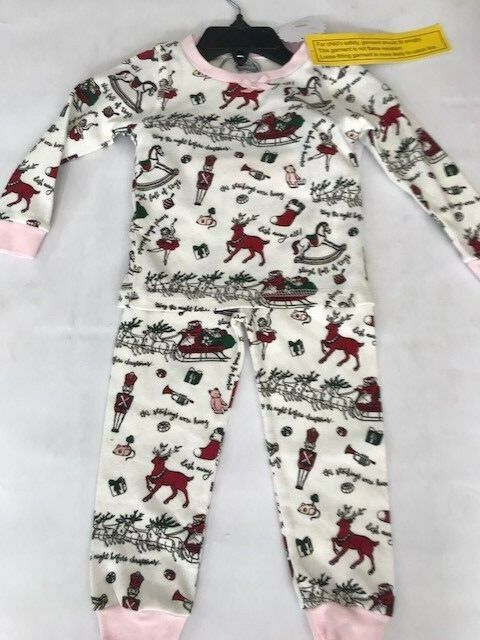 Buy Mudpie Select 9-12 Months Very Merry Christmas Pajama Set Pink Trim  online  b31b02559
