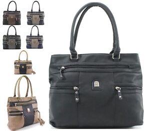 Details zu Damen Kunstleder Lumpen Handtasche Große Tasche Taschen mit Reißverschluss
