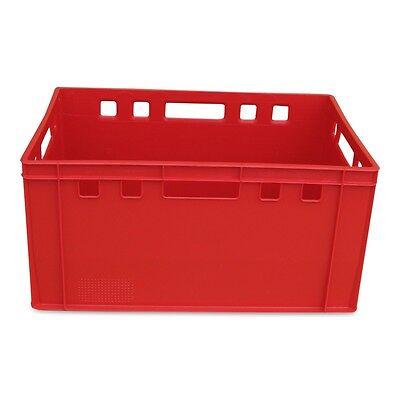 1 X E3 Eurofleischkiste, Eurokiste, Vorratsbox, Transportkiste, Stapelbox Rot