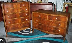 Image Is Loading John Stuart French Style Flame Mahogany Bedroom Dresser