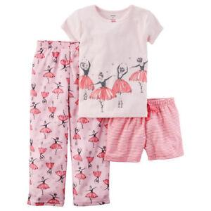 594fe0cf2 NWT Girls size 10 CARTER'S 3 Piece Ballerina Pajama Set | eBay