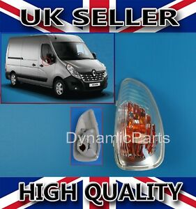 VAUXHALL MOVANO 2010-/>2016 LEFT SIDE WING//DOOR MIRROR INDICATOR LENS CLEAR