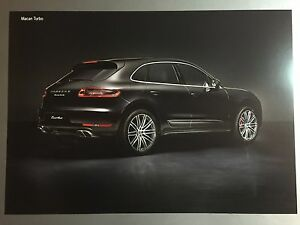 Porsche Macan Turbo Coupe Showroom Advertising Sales Poster Rare