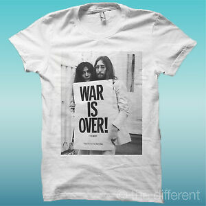 T-SHIRT-034-JOHN-LENNON-YOKO-WAR-IS-OVER-034-BIANCO-THE-HAPPINESS-IS-HAVE-MY-T-SHIRT