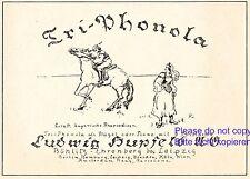 Klavier Hupfeld Böhlitz Ehrenberg Reklame 1924 Ungarische Rhapsodie Liszt +