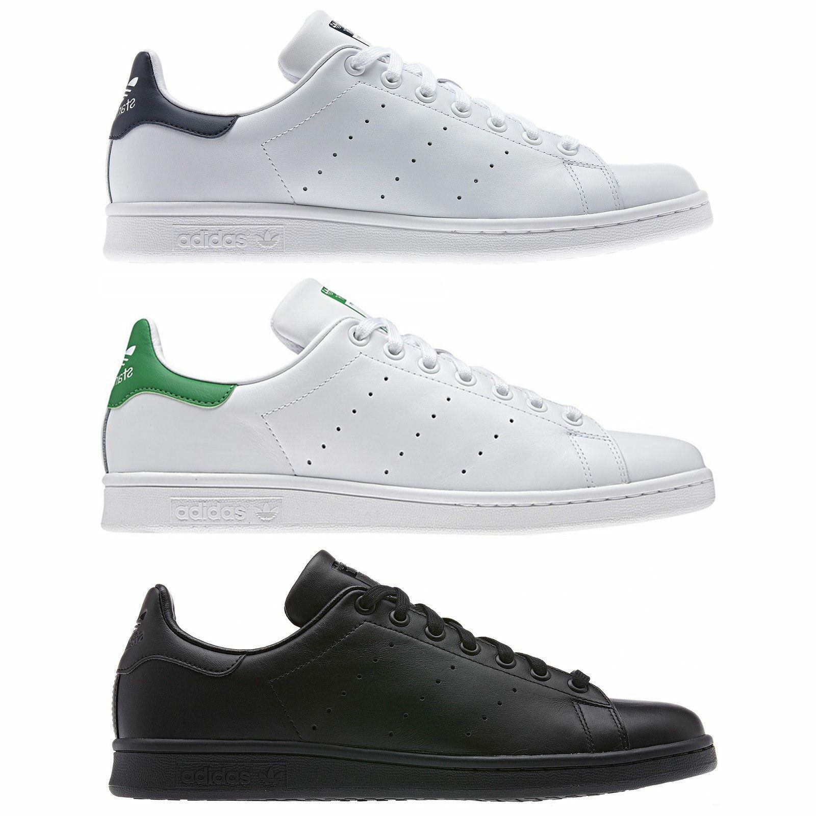 ADIDAS ORIGINALS STAN SMITH TRAINERS SHOES SNEAKERS MEN'S BLACK GREEN NAVY NEW