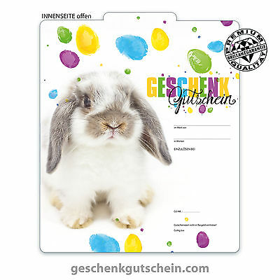 """Premium Faltgutscheine """"Multicolor"""" für Ostern U232"""