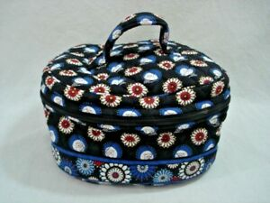 42cb381ca4 Vera Bradley Night Owl Round Cosmetic Tote with Handle VGC 8x4