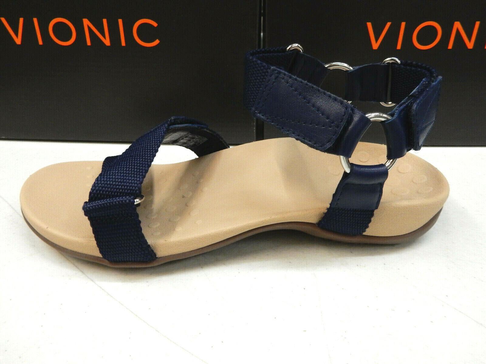 Vionic femmes Candace Backstrap Sandal Navy Taille 10