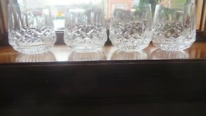 Waterford-Lismore-Roly-Poly-Tumbler-Old-Fashioned-Crystal-Glass-Never-used-REDUC