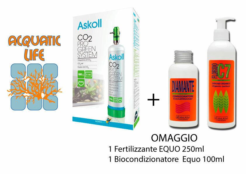 Askoll CO2 Pro Grün System Impianto Arric tore Anidride Carbonica Acquario