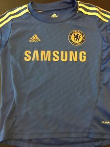huge discount ca5fe f3774 Details about Chelsea Football Club Premier League Youth XS Blue Adidas  Soccer Jersey
