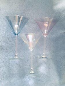 Set-of-3-Vintage-Iridescent-Optic-Cocktail-Martini-Glasses