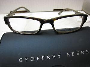 GEOFFREY BEENE EYEGLASS FRAMES Style EDITOR in TORTOISE 52 ...